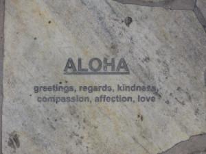 Aloha sidewalk