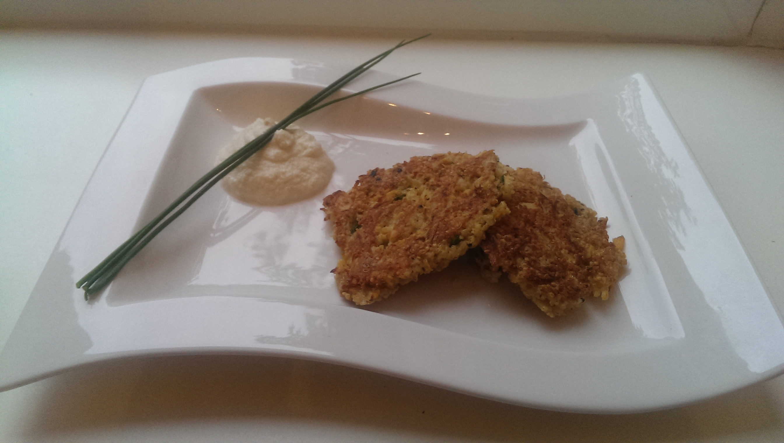 Quinoa Fritters with Homemade Aioli