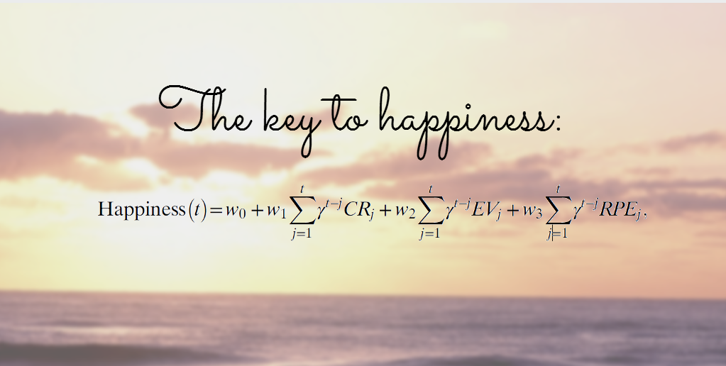 Mathematical equation shows the key to happiness