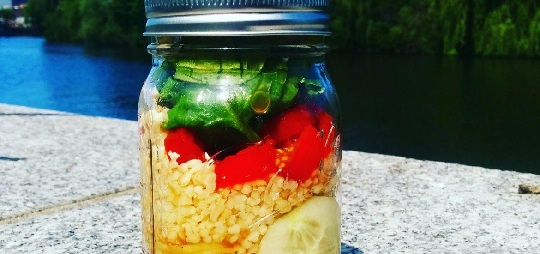 Healthy lunch idea Mason Jar Salad