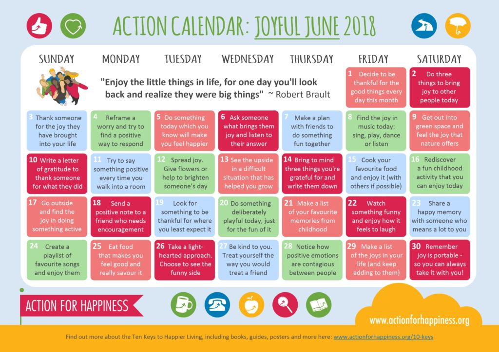 Joyful June Calendar